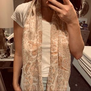 Paisley floral print scarf